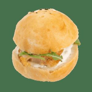 Mini burger poulet et tzatziki