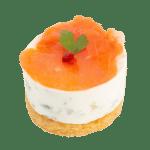 Cheesecake truite fumée et câpres