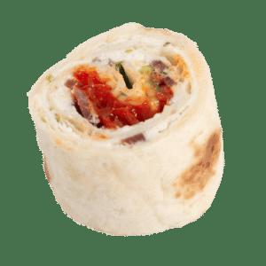 Maki wrap chèvre, piquillos et courgettes marinées