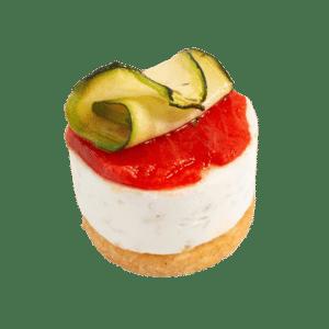 Cheesecake câpres et légumes grillées